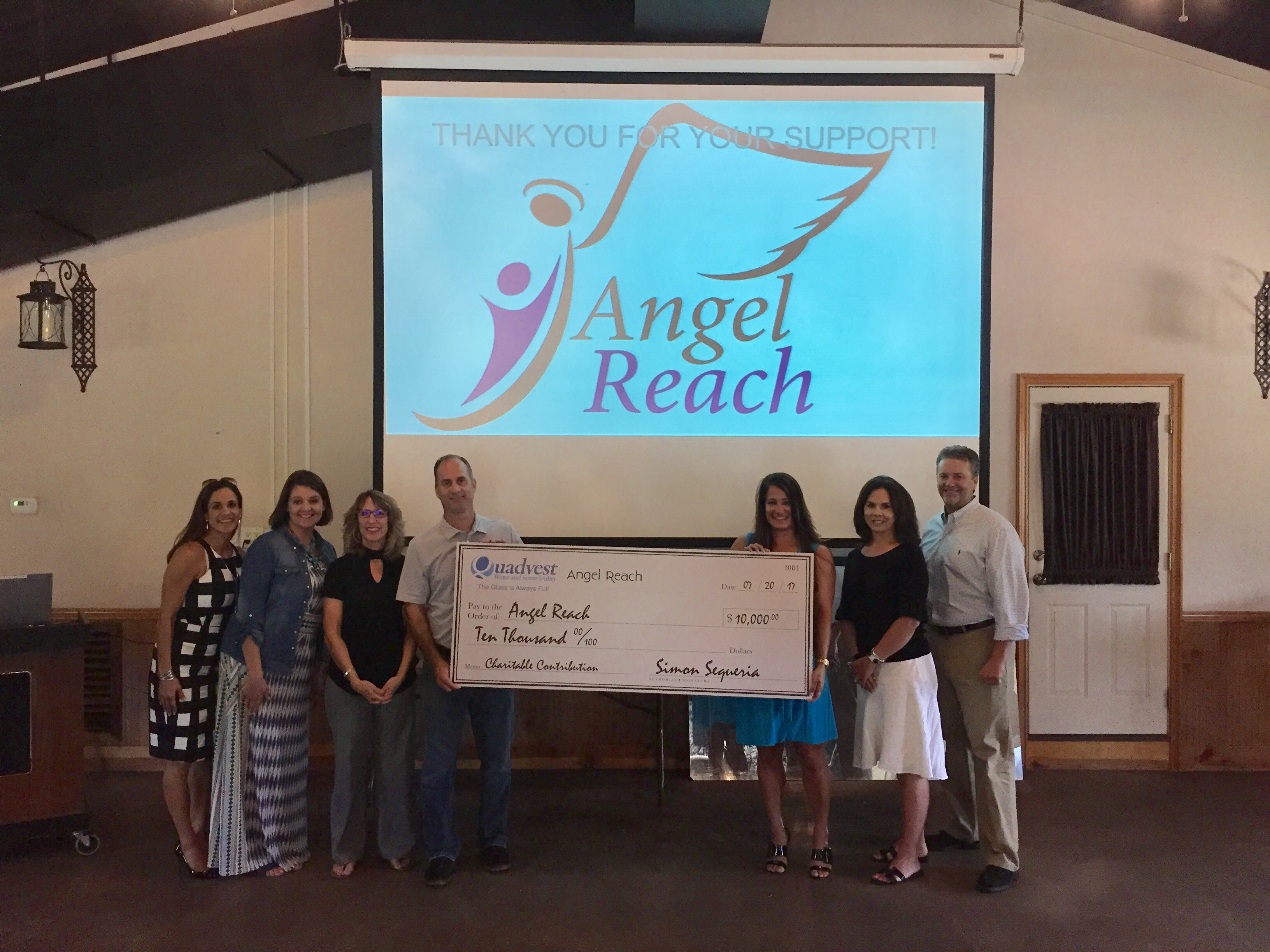 Quadvest Ssupports local youth through donation to Angel Reach